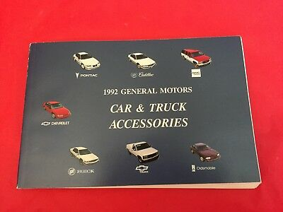 "k. 1992 General Motors ""Car & Truck Accessories"" Dealer Sales Brochure Cadillac"