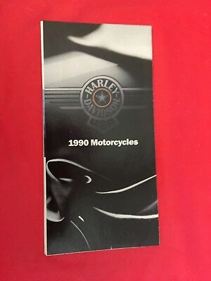 x. 1990 Harley-Davidson Motorcycle Dealer Sales Brochure