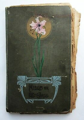 Vintage Postcard Album Huge Lot Mostly 1904 Early 1900s Over 190 Some Unused USA