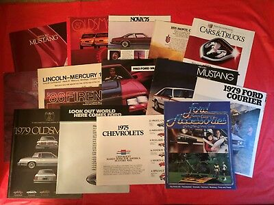 LOT 15 Chevy Ford Oldsmobile Dodge Lincoln-Mercury Rolls-Royce Car Brochures