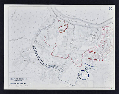 West Point Civil War Map Siege of Fort Donelson Feb 15 Noon McClernand & Pillow