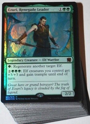 Custom Commander Deck Ezuri Renegade Leader Elves Edh Elf Magic