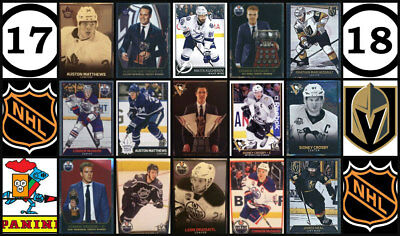 2017-18 Panini 17-18 NHL Hockey Stickers Complete Set 509 Vegas Golden Knights