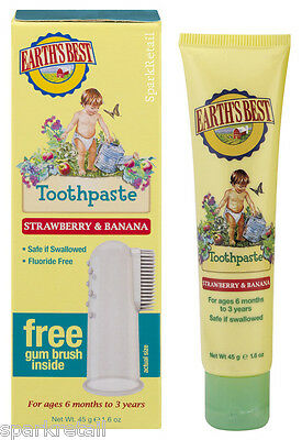 Jason Earth's Best STRAWBERRY & BANANA Fluoride Free TOOTHPASTE For Babies 45g