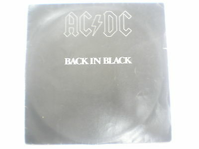 AC DC ACDC BACK IN BLACK  RARE LP record vinyl INDIA INDIAN 202 VG++