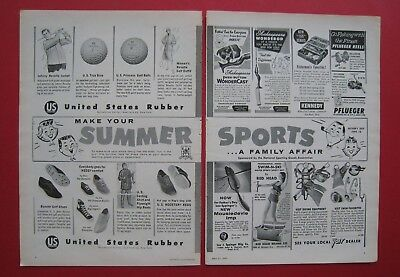 1957 United States Rubber 2-pages AD