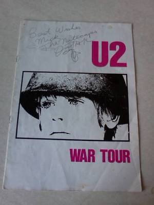 Tour programme U2 War signed by support band The Nitecaps Feb/ March 1983