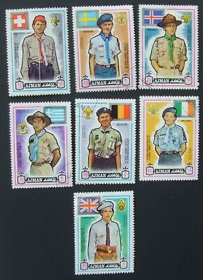 7 World Scout Jamboree 1971 stamps from Ajman
