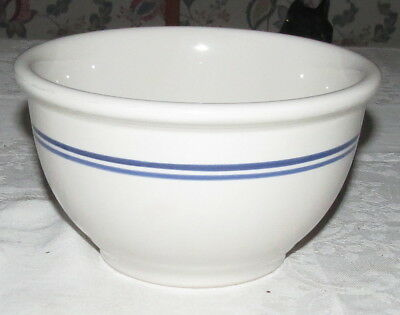 "Gibson China Vintage 6.1/2"" 1qt Mixing Bowl - with Blue Rings"