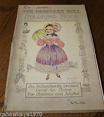 VINTAGE KIM PRESENTS The Heritage Doll Coloring Book By Red Farms ...