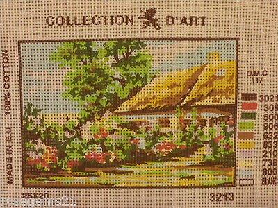 Collection D'Art Tapestry CANVAS ~ COUNTRY COTTAGE