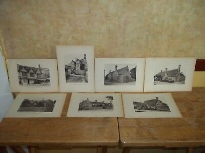 1905 English Collotype Book Plates/Prints Cottages/Houses Etc. Cotswold District
