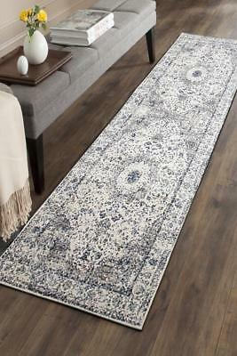 Hallway Runner Hall Runner Rug Modern Grey Blue 4 Metres Long Premium Edith 251