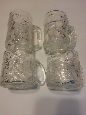 1995 McDonald's Batman Forever Glass Mugs Complete Set of 4
