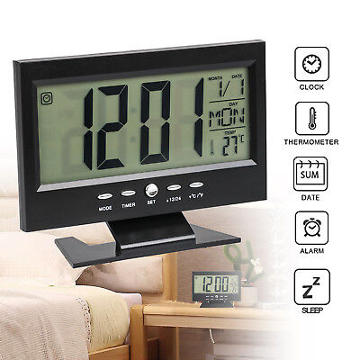 Multifunction Digital Alarm Clock Sound Control Silent LCD Digital Large Screen