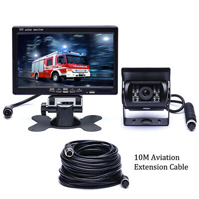 """Car Rear View Backup Camera System 7/"""" Monitor For RV Truck BUS 10M Cable E7Y5"""
