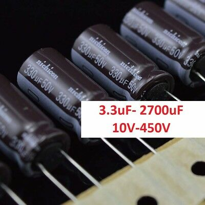10V-450V High Frequency LOW ESR Radial Electrolytic Capacitor 3.3uF- 2700uF 105C