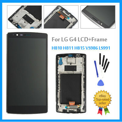 Outer LCD Screen + Touch Digitizer For LG G4 H810 H811 H815 VS986 LS991+ Frame
