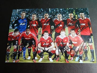"""MANCHESTER UNITED  TEAM 2014 ?  with printed signatures  6""""x4"""" PHOTO REPRINT"""