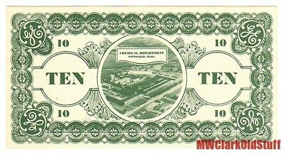 "GE GENERAL ELECTRIC TEN NOTE Chemical Department/Pittsfield MA 6""x3+"" UNKNOWN!!!"