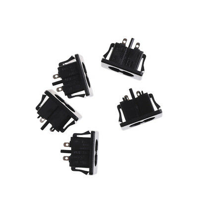 5Pcs AC250V 2.5A IEC320 C8 Male 2 Pins Power Inlet Socket Panel Embedded UK