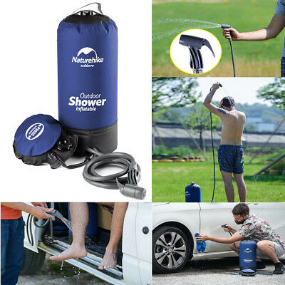 12L Portable Inflatable Outdoor Shower Bag Folding Barrel Camping Water Storage