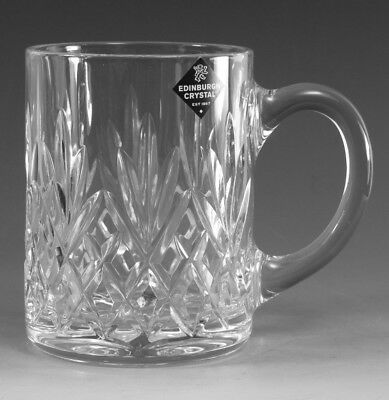 EDINBURGH Crystal - TAY Cut - 1 Pint Tankard Glass / Glasses - 5""