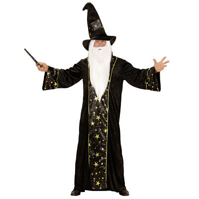 Further Wizard Costume Magician Men's Costume GANDALF DUMBLEDORE Merlin Costume