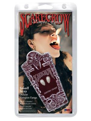 Scarecrow Deluxe Small Vampire Fangs Halloween Fancy Dress Costume Teeth