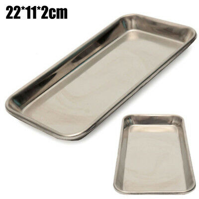 1pc Stainless Steel Medical Surgical Tray Dental Dish Lab Instrument Silver Tool