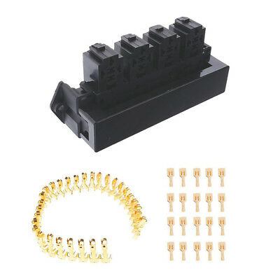 QUALITY AUTO CAR FUSE BOX/ HOLDER 15 WAY + BLADE FUSES & TERMINALS Kit NEWEST