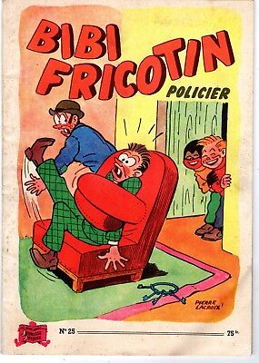 Bibi Fricotin 25 Policier  Rarissime Edition (Debut Annees 1950)