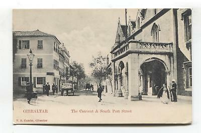 Gibraltar - The Convent & South Port Street - early postcard, undivided back