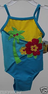 Circo Blue flower & Tree Pacific One Piece Bathing Suit Swimsuit Size 18 Months