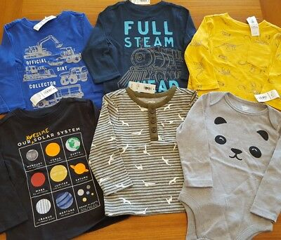 Old Navy Boys 12-18 MONTH Long Sleeve Shirts 6 PIECE Clothing Lot TOPS #8-122-18