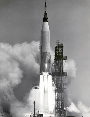 "1961 Mercury-Atlas 3 Test Launch, FL Vintage Old Photo 8.5"" x 11"" Reprint"