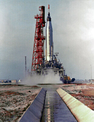 "1962 NASA-Mercury Atlas 7 Launch, FL Vintage Old Photo 8.5"" x 11"" Reprint"