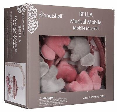 Bella Elephant Musical Crib Mobile by The Peanut Shell