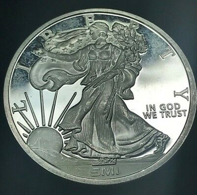 Sunshine Minting Inc 1 oz Silver Round - Walking Liberty Inspired