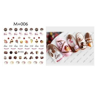 Lovely Cupcakes Chocolate Water Transfer Nail Art Stickers Decals Gel Polish DIY