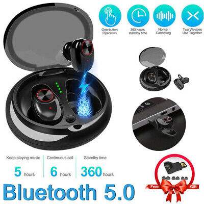 Twins Bluetooth Mini True Wireless Earbuds In-Ear Stereo Earphones Sport Headset