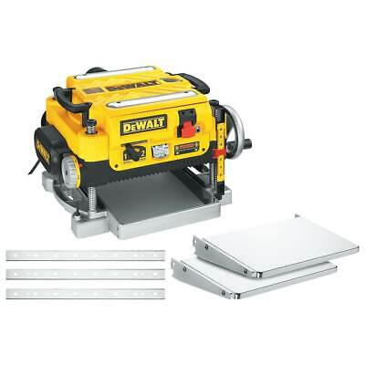 DeWALT DW735X 13-Inch Two-Speed Woodworking Thickness Planer + Tables & Knives