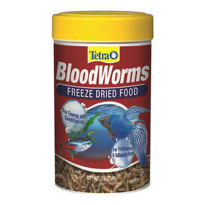 TETRA - Freeze Dried Food Bloodworms Fish Treats - 0.28 oz.