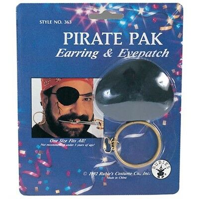 Pirate Earring & Eye Patch - Pack Eye Costume Accessory Rubies Earing Captain