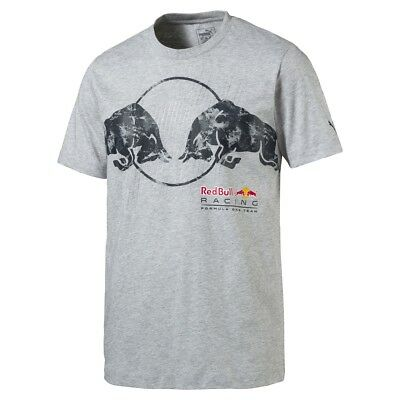 Red Bull Racing Formula One Team Logo T-Shirt Herren grau 100% Baumwolle