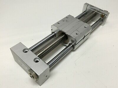 """SMC NCDY2S15H-0600 Magnetic Rodless Cylinder Slide Bearing, 6"""" Stroke, 5/8"""" Bore"""
