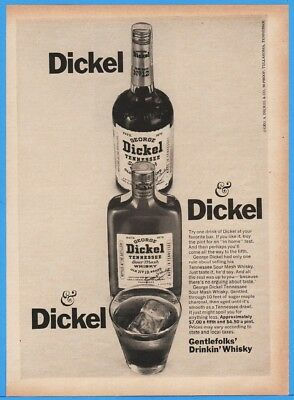 1967 George Dickel Tennessee Sour Mash Whisky Coffee County TN Gentlefolks ad