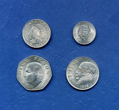 MEXICO - SET of FOUR COINS from the 1970's.  (CX136)