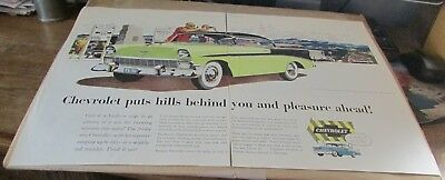 Old Car Ad[Original]-<1956>--CHEVROLET--<BEL AIR SPORT COUPE>-- (2 Page Ad)