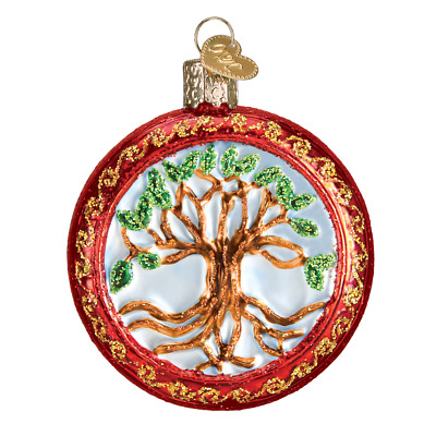 """Tree of Life"" (36233)X Old World Christmas Glass Ornament w/ OWC Box"